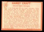 1964 Topps #298  Harry Craft  Back Thumbnail
