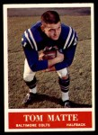 1964 Philadelphia #6  Tom Matte   Front Thumbnail