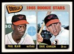 1965 Topps #473   -  Paul Blair / Davey Johnson Orioles Rookies Front Thumbnail