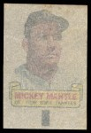 1966 Topps Rub Off #57   Mickey Mantle   Back Thumbnail