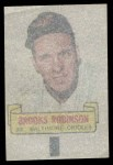 1966 Topps Rub Off #79   Brooks Robinson   Back Thumbnail