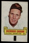 1966 Topps Rub Off #79   Brooks Robinson   Front Thumbnail