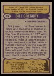 1979 Topps #39  Bill Gregory  Back Thumbnail