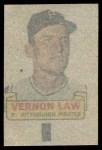 1966 Topps Rub Off #51   Vern Law   Back Thumbnail
