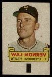 1966 Topps Rub Off #51   Vern Law   Front Thumbnail