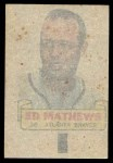 1966 Topps Rub Offs  Eddie Mathews  Back Thumbnail