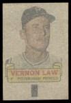 1966 Topps Rub Offs   Vern Law   Back Thumbnail