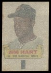 1966 Topps Rub Offs  Jim Ray Hart  Back Thumbnail