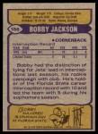 1979 Topps #186  Bobby Jackson  Back Thumbnail