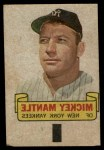 1966 Topps Rub Off #57   Mickey Mantle   Front Thumbnail