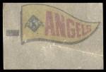 1966 Topps Rub Offs    California  Angels Pennant Back Thumbnail