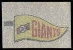 1966 Topps Rub Offs    San Francisco Giants Pennant Back Thumbnail