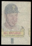 1966 Topps Rub Offs   Bill Mazeroski   Back Thumbnail
