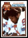 1979 Topps #242  Julius Adams  Front Thumbnail