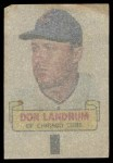 1966 Topps Rub Off #50   Don Landrum   Back Thumbnail