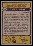 1979 Topps #316  Larry Tearry  Back Thumbnail