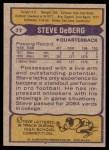 1979 Topps #77  Steve DeBerg  Back Thumbnail