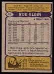 1979 Topps #51  Bob Klein  Back Thumbnail