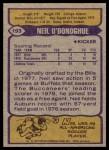 1979 Topps #193  Neil O'Donoghue  Back Thumbnail