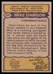 1979 Topps #231  Mike Dawson  Back Thumbnail