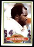 1980 Topps #156  John Mendenhall  Front Thumbnail