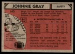 1980 Topps #163  Johnnie Gray  Back Thumbnail