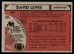 1980 Topps #180   -  David Lewis All-Pro Back Thumbnail