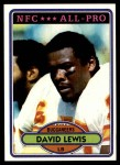 1980 Topps #180   -  David Lewis All-Pro Front Thumbnail