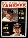 1964 Topps #281   -  Jake Gibbs / Tom Metcalf Yankees Rookies Front Thumbnail