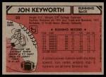 1980 Topps #22  Jon Keyworth  Back Thumbnail