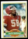 1980 Topps #77  Jack Rudnay  Front Thumbnail