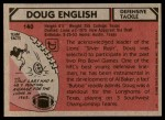 1980 Topps #140  Doug English  Back Thumbnail