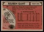 1980 Topps #59  Reuben Gant  Back Thumbnail