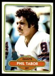 1980 Topps #14  Phil Tabor  Front Thumbnail