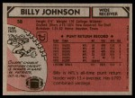 1980 Topps #58  Billy Johnson  Back Thumbnail
