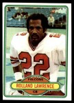 1980 Topps #37  Rolland Lawrence  Front Thumbnail