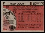 1980 Topps #294  Fred Cook  Back Thumbnail