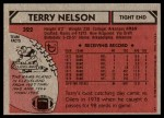 1980 Topps #322  Terry Nelson  Back Thumbnail
