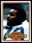 1980 Topps #270  Harvey Martin  Front Thumbnail
