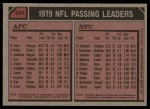 1980 Topps #331   -  R.Staubach / Fouts Passing Leaders Back Thumbnail