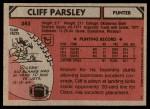 1980 Topps #343  Cliff Parsley  Back Thumbnail
