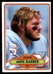 1980 Topps #272  Mike Barber  Front Thumbnail