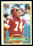 1980 Topps #214  George Starke  Front Thumbnail