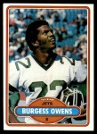1980 Topps #238  Burgess Owens  Front Thumbnail