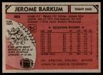 1980 Topps #484  Jerome Barkum  Back Thumbnail
