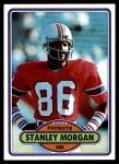 1980 Topps #491  Stanley Morgan  Front Thumbnail
