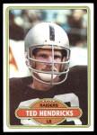 1980 Topps #489  Ted Hendricks  Front Thumbnail