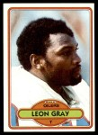 1980 Topps #404  Leon Gray  Front Thumbnail