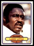 1980 Topps #406  Larry Little  Front Thumbnail