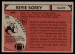 1980 Topps #462  Revie Sorey  Back Thumbnail